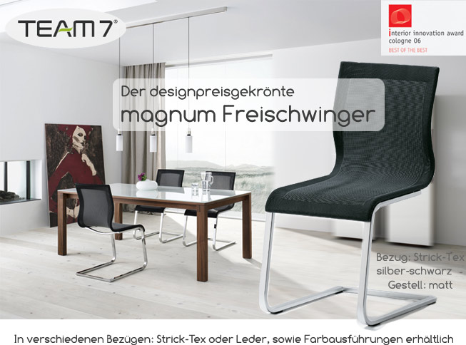 team 7 magnum wohnen leben fleischmann. Black Bedroom Furniture Sets. Home Design Ideas